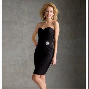 Mori Lee Strapless Embellished Black 2piece size 8